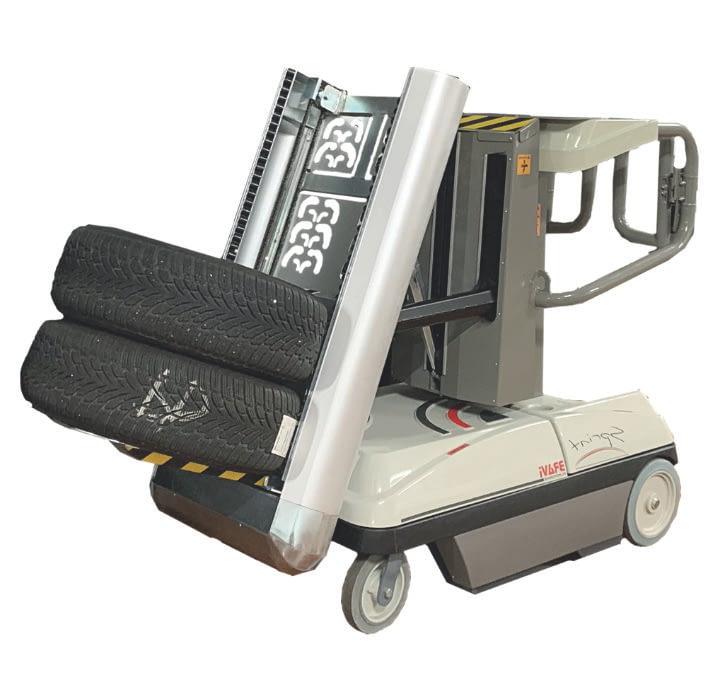 Vychystávací vozík na pneumatiky